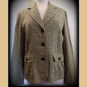 NWT Talbots Wool Herringbone Twill Blazer Jacket